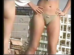 Sex at the beach hunters spying big asses and tight pussies in bikini
